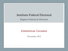 Estadísticas Censales - Instituto Nacional Electoral