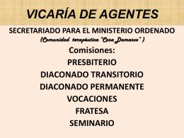 VICARÍA DE AGENTES - Vicaría de Pastoral