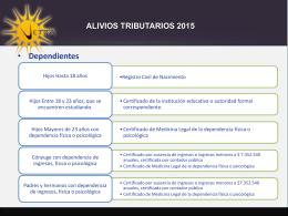 ALIVIOS TRIBUTARIOS 2015