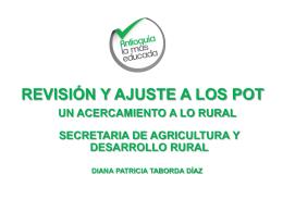revisión y ajuste a los pot, un acercamiento a lo rural