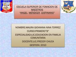 ESCUELA SUPERIOR DE FOMACION DE MAESTROS