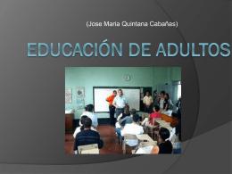 EDUCACIÓN DE ADULTOS -