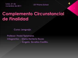 C.C. de Finalidad - Prisma School