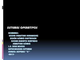 S.O - Sistemas Operativos