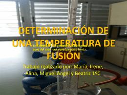 determinación de una temperatura de fusión