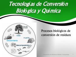 Tecnologías de Conversión Biológica y Química