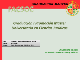 Master CCJJ - Diario Digital de la UJA