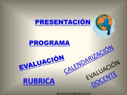 PRESENTACIÓN INICIAL 2011
