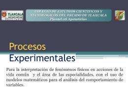 Procesos Experimentales.
