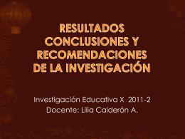 RESULTADOS DE INVESTIGACIÓN - Investiga