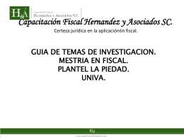 Capacitación Fiscal Hernandez y Asociados SC.