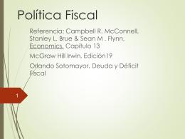 Política fiscal , Déficit y la Deuda (Econ.3022