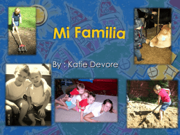 Spanish Project - My Family