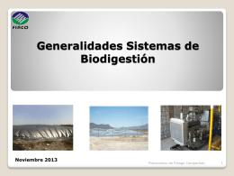Generalidades Sistemas de Biodigestión