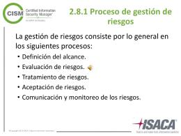 2.8.1 Proceso de gestión de riesgos