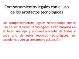 Comportamientos legales con el uso de los artefactos tecnológicos