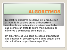 ALGORITMOS.