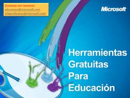 Aplicaciones gratuitas Microsoft