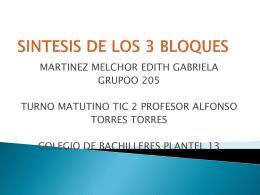 SINTESIS DE LOS 3 BLOQUES