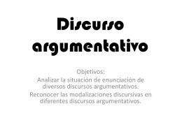 Discurso argumentativo 1