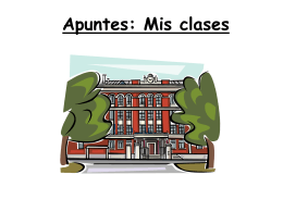 Apuntes: Mis clases Español 7 Art class Social studies Social