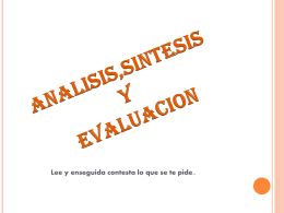 ANALISIS SINTESIS T EVALUACIOON DHPC