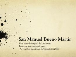 San Manuel Bueno Martír - NQHS-AP