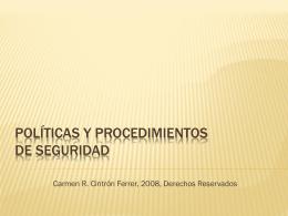 Redacción de políticas y procedimientos