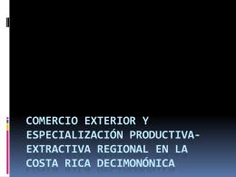 COMERCIO EXTERIOR Y ESPECIALIZACIÓN PRODUCTIVA
