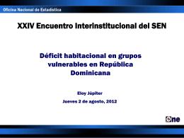 Déficit Habitacional en grupos vulnerables