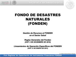 Foro Regional de Capacitación de Instrumentos Financieros FONDEN