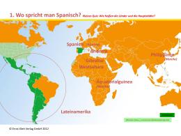 Präsentation Spanischkarte Klett