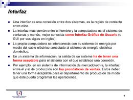 Interfaz - Depto. Sistemas de Información