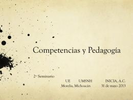Competencias y Pedagogía