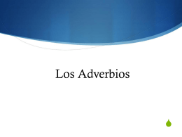 Los Adverbios - dacey-burlington