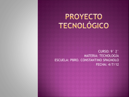 Definición de proyecto tecnológico - Spagnolo-9-2
