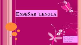 Enseñar lengua