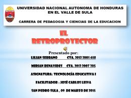 EL RETROPROYECTOR - TECNOLOGIA EDUCATIVA I
