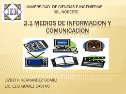 Medios de informacion y comunicacion