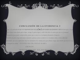 Conclusión de la evidencia 3