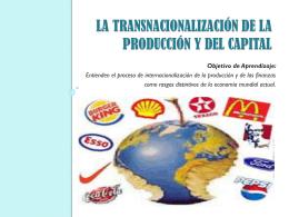 la transnacionalización de la producción y del capital