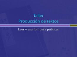 Taller Producción de textos