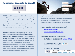 Asociación Española de Lean IT (Version revisada por la Junta en
