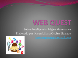 WEB QUEST (160242) - Inteligencias Múltiples Karen