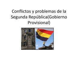 Conflictos y problemas de la Segunda República