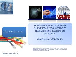 TRANSFERENCIA TECNOLOGICA PROPILVEN[1]
