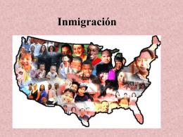 Presentación Inmigración