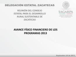 sagarpa - OEIDRUS Zacatecas