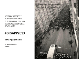 Ciberactivismo y movilización. Gigapp. Madrid