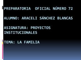Preparatoria oficial número 72 alumno: Araceli Sánchez Blancas